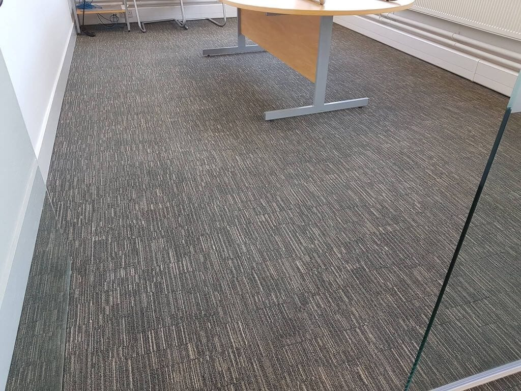 cleaning carpet in office