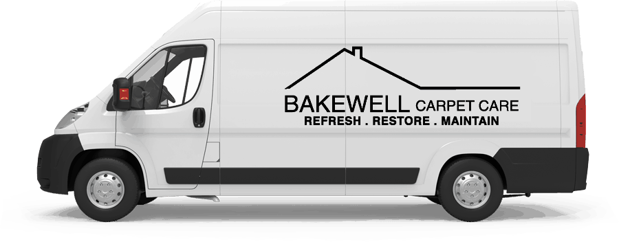 Slide in van with the Bakewell logo on the side