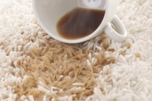 Stain Protection - Coffee on carpet